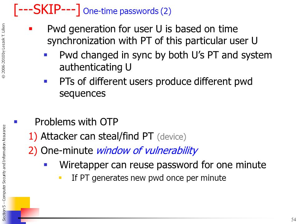 [---SKIP---] One-time passwords (2)
